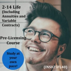 Florida: 40 hour -  2-14 Life & Variable Annuity-Only Pre-Licensing Course (INS025FL40)